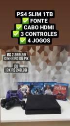 Título do anúncio: PS4 SLIM 1TB