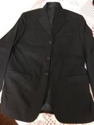 Terno masculino Vila Romana  preto liso