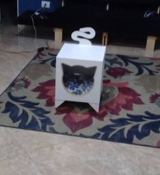 Casinha de gato em MDF 15mm com almofada