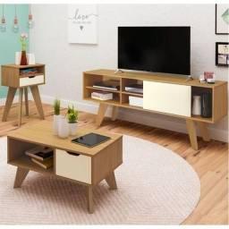 Rack, mesa de centro e mesa de apoio Vip - Artely móveis
