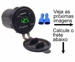 Carregador usb para veiculo recarga bateria painel console rack cinzeiro