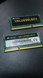 Memória Notebook DDR3 4GB (total 8 GB)