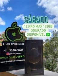 iPhone 12 Pro Max Dourado 128 Gb Novo Lacrado!