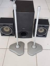Caixa de som para home theater 2,1 ou receiver