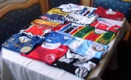 Lote de 12 Camisas Futebol Originais Para Colecionadores - Clubes Variados - Ler Descrição
