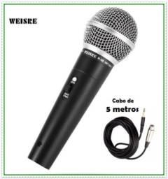 Microfone Profissional com fio Para Pastores, Convenções, Palestras, Cantos, Igrejas. Etc