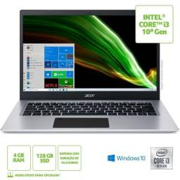 Notebook Acer Aspire 5 Intel Core i3 10ª Ger. 4GB Ssd 128gb Novo! Lacrado!