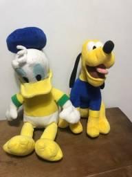 Ursos de pelúcia Disney Pluto e Pato Donald