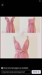 Título do anúncio: Vestido de madrinha Rosê ( multiformas )