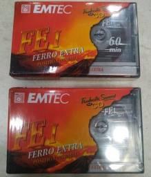 Título do anúncio: K7 Fita Cassete Emtec 60 Min Ferro Extra Original Lacrada