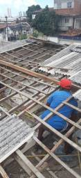 Conserto de telhado cobertas e manta em geral.