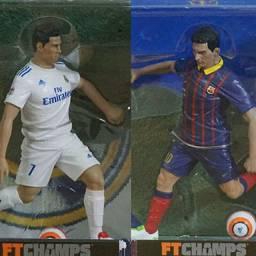 Leonel Messi Cristiano Ronaldo Estátua Miniatura