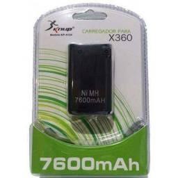 Bateria recarregável Controle Xbox 360 7600MAH com carregador Novo Frete Grátis