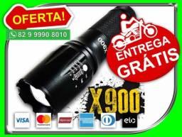 Lanterna Led X900 Tatica Militar Original recarregavel enntrego de graça