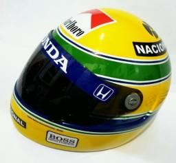 Réplica Capacete Ayrton Senna + Brindes