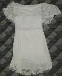 Vestido branco renda p