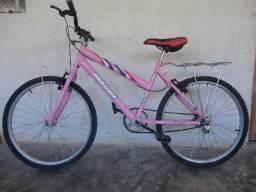 Bicicleta feminina aro 24 conservada e preço em conta!