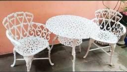 Mesa 2 cadeira alumínio, jardim, varanda