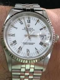daad8b23b5c Relógio Rolex Oyster Perpetual Date Safira Novíssimo Pulseira Rolex Original  Sem Folgas