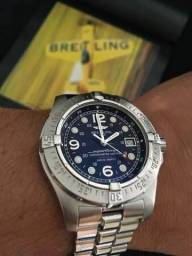 3c8de53ffa8 Relógio Breitling 44mm Safira Profissional Mergulho 2000 Metros Novo