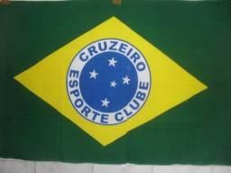 baabb1b942 Bandeira do Brasil Símbolo Escudo do Cruzeiro Raposa 160cm x 80cm Time  Futebol Torcedor