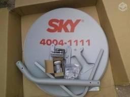 Instalação e alinhamento de antena Sky HDTV