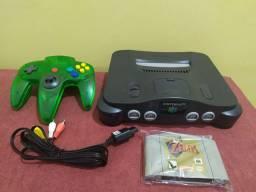 Nintendo 64 completo com zelda
