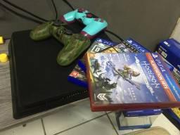 PS4 Slim 1 TB + jogos