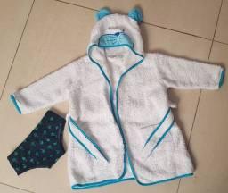 Sunga e roupao de bebê