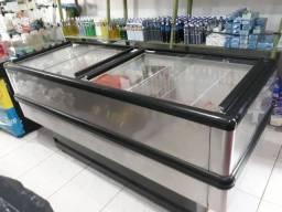 Freezer inox semi nova