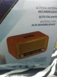 Cx som retro na caixa (idêntico um rádio madeira)