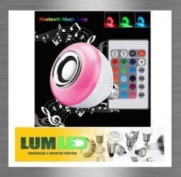 Lampada Bulbo Musical 6W led 3W rms Primeira Linha