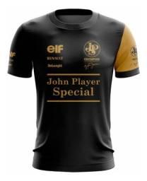 Camiseta F1 John Player Special Renault Ayrton Senna 12 Fórmula 1