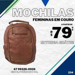 Mochilas Femininas em Couro ecológico (entrega sem taxa)