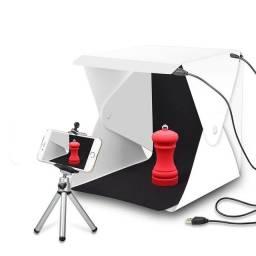 Mini Studio Fotográfico Portátil Dobrável iluminação Led