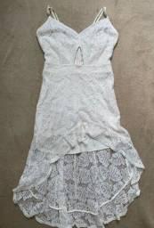 vestido mullet renda