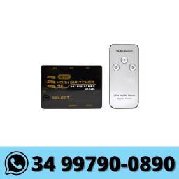 Switch HDMI 3x1 com Controle Remoto