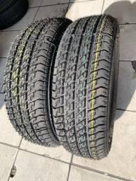 Título do anúncio: 02 pneus remolde 175/65/14 Eco Tyres (entrego instalados)