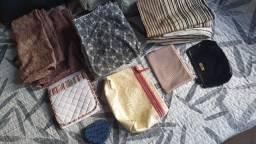Capas, lençois e necessaires