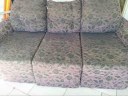 Sofá usado retrátil reclinável.