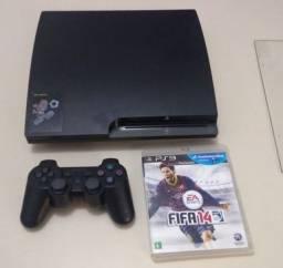 Título do anúncio: Playstation 3 Slim Seminovo (Em até 10x)