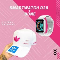 Título do anúncio: SMARTWATCH D20 + BONÉ