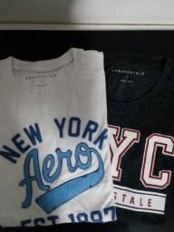 2 Camisetas Aeropostale Importadas Originais Novas Tamnaho G