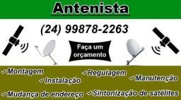Título do anúncio: Instalador antenista (técnico em instalações de antenas)