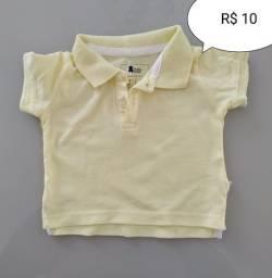 Camisa Polo infantil tamanho 3 a 6 meses