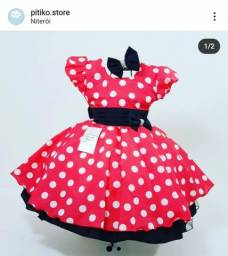 Vestido Minnie 4 anos