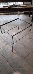 Base para mesa em aço escovado
