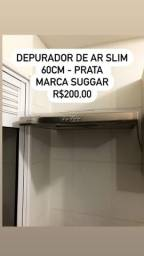 Título do anúncio: Depurador de ar slim - prata - 60cm