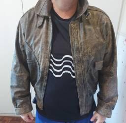 Jaqueta  de couro de rinoceronte
