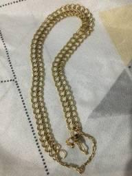 Pulseira de ouro 18k, 11.1 gramas.